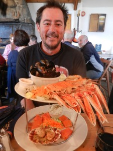 Gav and the giant seafood platter