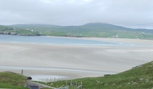 The view of Uig sands from our deck (and this photo doesn't do it justice!)