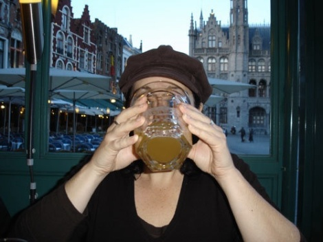 Here in Bruges, the beers are the size of your head
