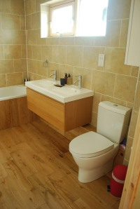 Bathroom in Port Carnish cottage