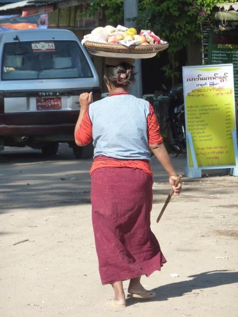 Fruit seller, Mt Popa