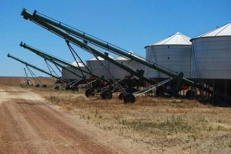 A wheat silo or two.
