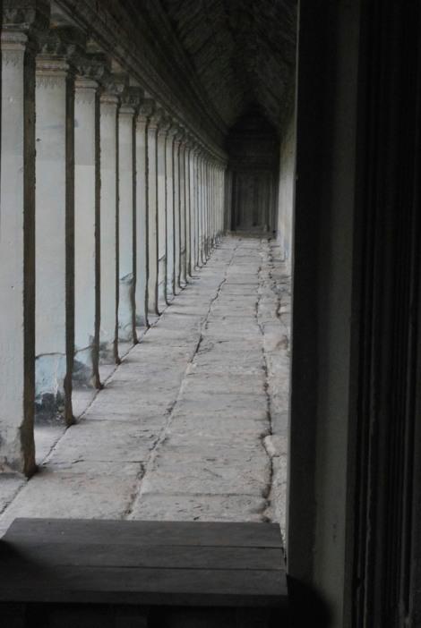 Gallery at Angkor Wat. Look - no people!