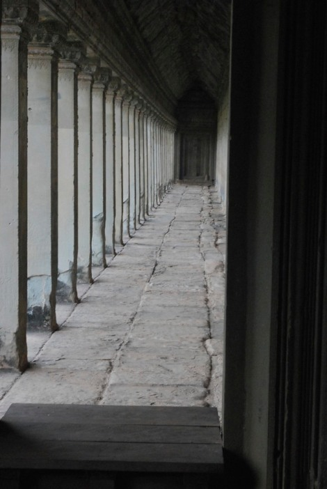 Gallery at Angkor Wat. Look - no people!