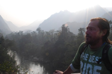 Gav admiring the view in Phong Nha national park