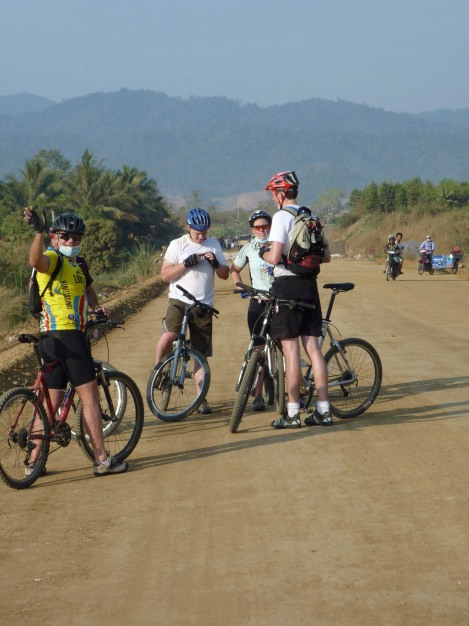 "On the ""Road to Hell"" in Cambodia. There was cold beer at the end!"