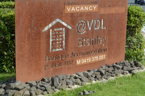 "We were pretty happy to see the ""vacancy"" sign @VDL"