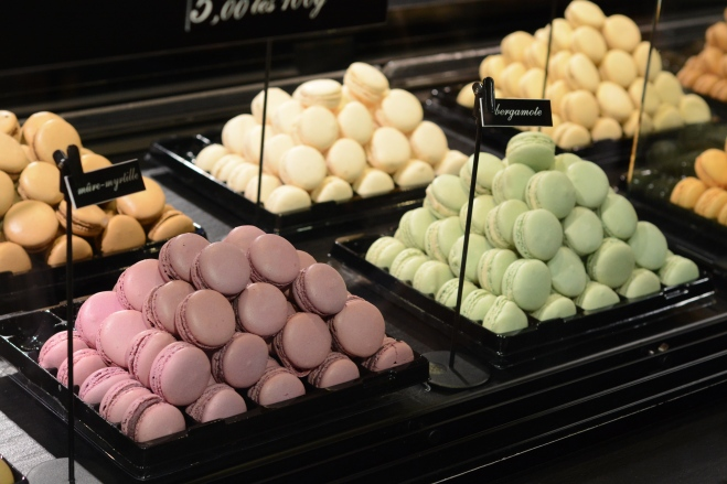 A whole heap of macarons.