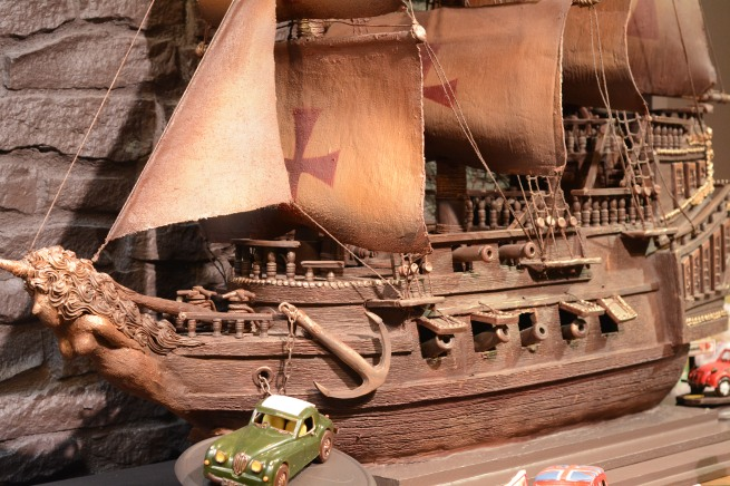 This is an actual ship made of actual chocolate. I don't know why it's a thing, but it's amazing!