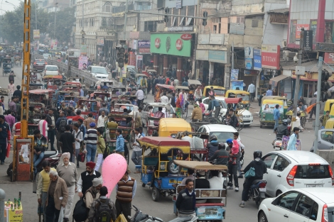 And this isn't even rush hour! A bit of traffic in Old Delhi