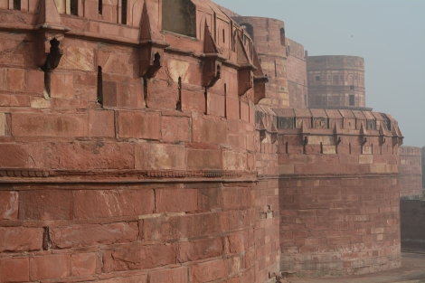 The outer wall of Agra Fort