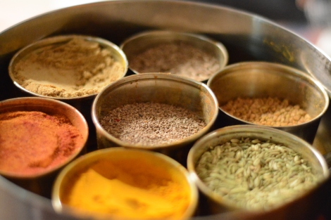 Indian spices at out cooking demo
