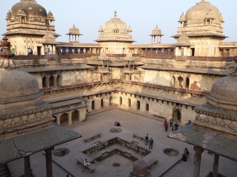 Orchha palace (that thing in the middle was a swimming pool)