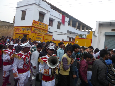 Religious street parade in Varanasi