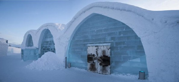 It's a hotel. Made of ice. Take me now.